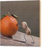 Simple Things - Sisyphos 01 Wood Print by Nailia Schwarz