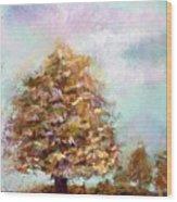 Simple Tree Wood Print by Peter R Davidson