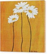 Simplicity L Wood Print by Marsha Heiken
