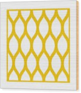 Simplified Latticework With Border In Mustard Wood Print
