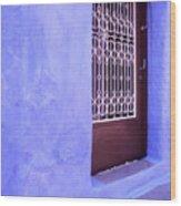 Simply Blue Wood Print
