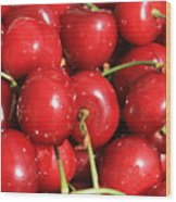 Simply Cherries  Wood Print