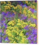Simply Soft Colorful Garden Wood Print