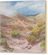 Simply The Desert Wood Print by Jean Ann Curry Hess