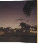 Simpson Bay Purple Sunset Saint Martin Caribbean Wood Print