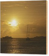 Simpson Bay Sunset Saint Martin Caribbean Wood Print