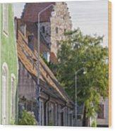 Simrishamn Street Scene Wood Print