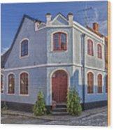 Simrishamn Townhouse Wood Print