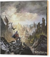 Simurgh Call Of The Dragonlord Wood Print