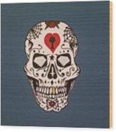 Sin Sugar Skull Wood Print