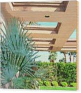 Sinatra Patio Palm Springs Wood Print
