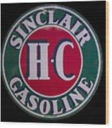 Sinclair Gasoline Porcelain Sign Wood Print