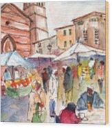 Sineu Market In Majorca 01 Wood Print