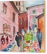 Sineu Market In Majorca 05 Wood Print