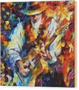 Sing My Guitar Wood Print