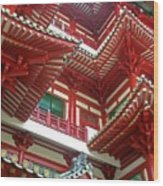 Singapore Buddha Tooth Temple Wood Print