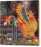 Singapore Chinatown 2017 Lunar New Year Fireworks Wood Print
