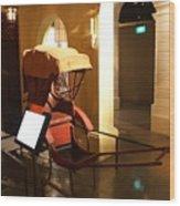 Singapore Hand Pulled Rickshaw Wood Print by Padamvir Singh