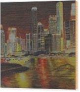 Singapore Nights Wood Print