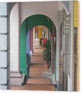 Singapore Porticoes Wood Print