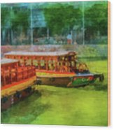 Singapore River Boats Wood Print