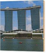 Singapore Ship Top Wood Print