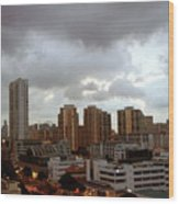 Singapore Skies Wood Print