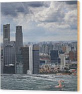 Singapore Swimmer Wood Print by Nina Papiorek