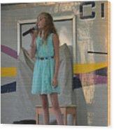 Singer #19b Wood Print