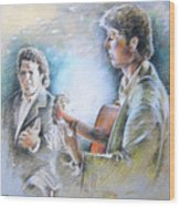 Singer And Guitarist Flamenco Wood Print