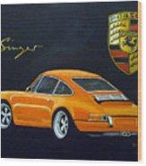 Singer Porsche Wood Print