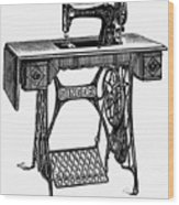 Singer Sewing Machine Wood Print