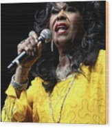 Singer Shirley Alston Reeves  Wood Print