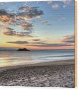 Singing Beach Manchester Ma Sunrise Island Wood Print