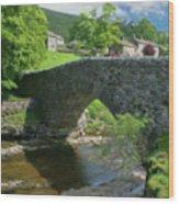 Single Arch Stone Bridge - P4a16018 Wood Print