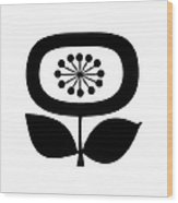 Single Flower 2  Wood Print
