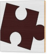 Single Jigsaw Piece Wood Print