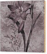 Single Lily-vintage Series  Wood Print