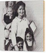 Single Mothers Wood Print