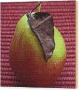 Single Pear Too Wood Print