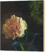 Single Peony Wood Print