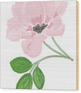 Single Pink Flower Wood Print