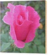 Single Rose Wood Print