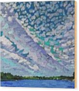 Singleton Altocumulus Morning Wood Print