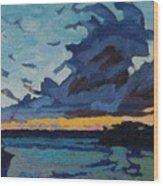 Singleton Sunset Stratocumulus Wood Print