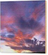 Singular Sunset Wood Print