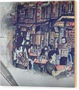 Siniawan Street In Borneo Wood Print