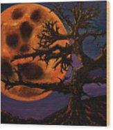 Sinister Moon Wood Print