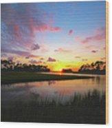 Sink Creek Sunset Wood Print