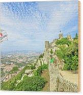 Sintra Castle Aerial Wood Print